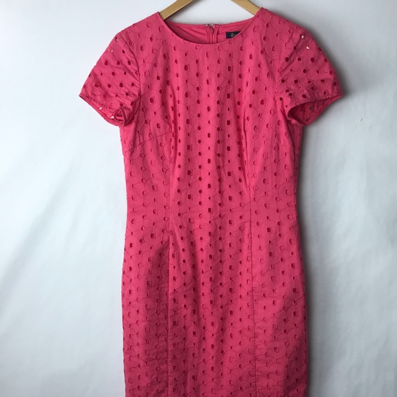 Brooks Brothers Dresses & Skirts - Brooks brothers eyelet sheath dress pink 2